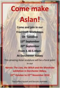 Come make Aslan!