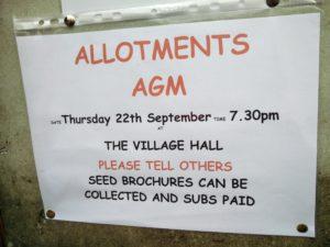 Allotments AGM