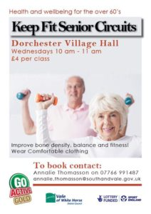 GO Active GOLD (60+). @ Village Hall, Dorchester on thames