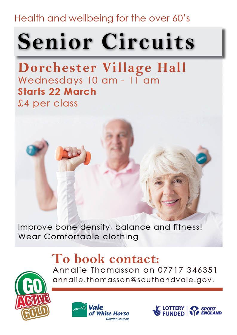 GO Active GOLD (60+) @ Village Hall, Dorchester on thames