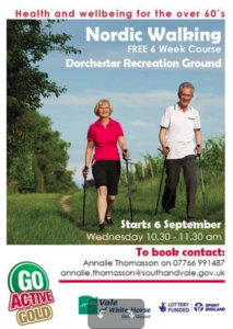 Free 6-week Nordic Walking for over 60s course