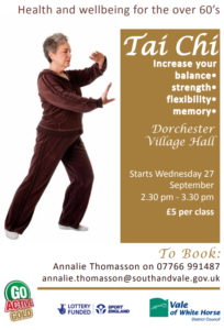 Tai Chi for the over 60's @ Village Hall | Dorchester | England | United Kingdom
