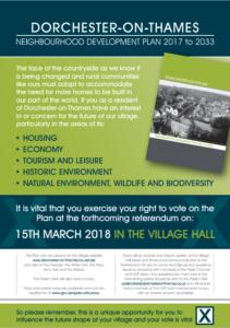 Dorchester-on-Thames Neighbourhood Development Plan Referendum @ Dorchester on thames village hall | Dorchester | England | United Kingdom