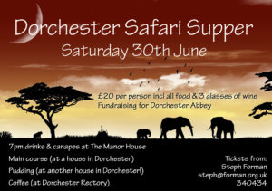 Dorchester Safari Supper