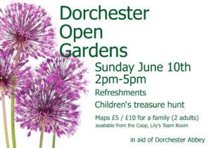 Dorchester Open Gardens