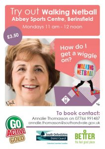 Walking Netball for the over 55s @ Abbey sports centre, Berinsfield