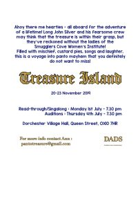 D.A.D.S. Treasure Island Readthrough and Auditions