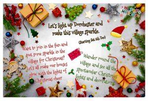 Let's light up Dorchester and make this village sparkle