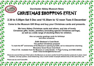 Museum Christmas Shopping Event @ Dorchester Abbey Museum